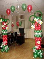 Воздушные шарики в офисе на 8 марта